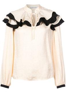 Jill Stuart ruffled neck blouse