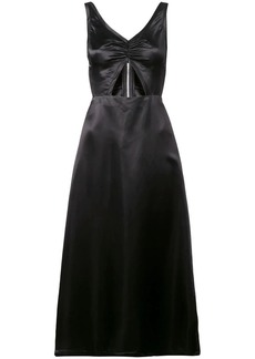 Jill Stuart satin cut out midi dress