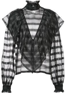 Jill Stuart sheer stripe blouse