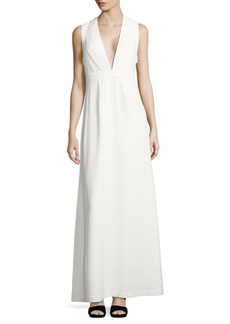 Jill Stuart Solid Sleeveless Gown