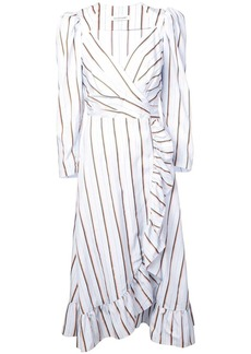 Jill Stuart striped wrap dress