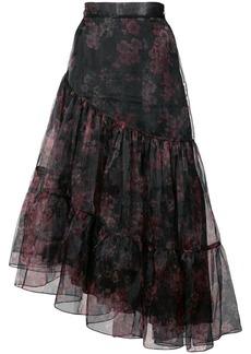 Jill Stuart Wilma asymmetric ruffled skirt