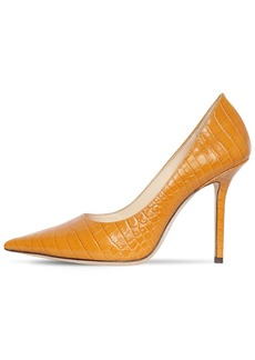 Jimmy Choo 100mm Love Croc Embossed Leather Pumps