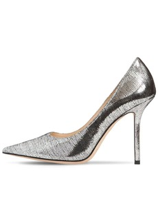 Jimmy Choo 100mm Love Printed Metallic Leather Pump