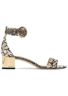 Jimmy Choo 40mm Jaimie Snakeskin Sandals