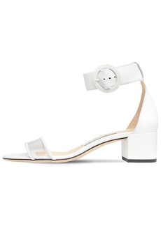 Jimmy Choo 40mm Jamie Leather & Plexi Sandals