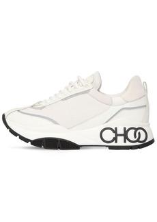 Jimmy Choo 50mm Raine Leather & Neoprene Sneakers