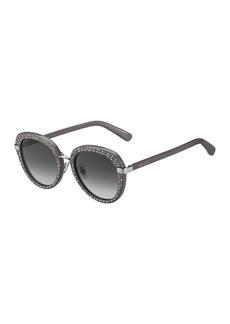 Jimmy Choo 52mm Moris Round Sunglasses
