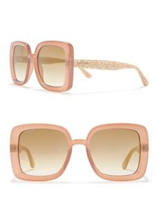 Jimmy Choo 54mm Caits Oversized Square Sunglasses