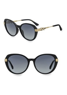 Jimmy Choo 56MM Oval Gemstone Sunglasses