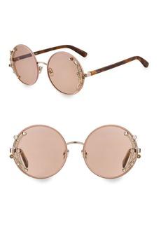 Jimmy Choo 59MM Gema Round Gemstone Sunglasses