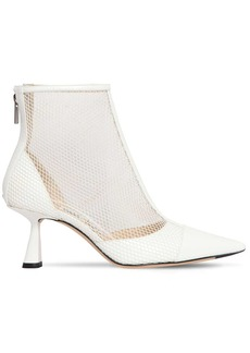 Jimmy Choo 65mm Kix Mesh & Patent Leather Boots