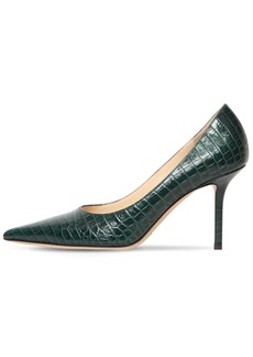 Jimmy Choo 85mm Love Croc Embossed Leather Pumps