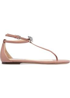 Jimmy Choo Afia Crystal-embellished Leather Sandals
