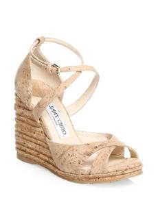 Jimmy Choo Alanah Cork Wedge Sandal