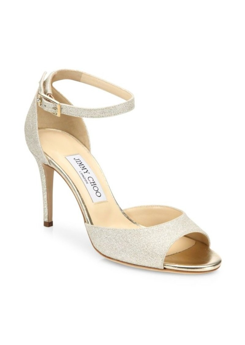 25d3f5e59573 Jimmy Choo Annie Glitter d Orsay Ankle-Strap Sandals