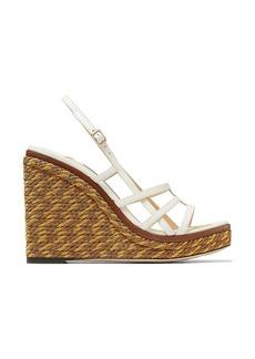Jimmy Choo Ariela woven wedge sandals 110mm