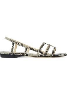 Jimmy Choo Arien snakeskin effect sandals