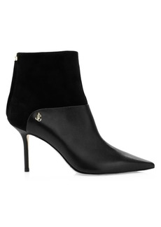 Jimmy Choo Beyla Suede & Leather Point-Toe Booties