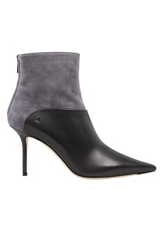 Jimmy Choo Beyla Suede and Leather Booties