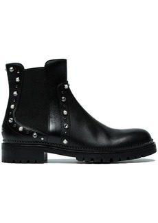 Jimmy Choo Black Burrow crystal leather boots