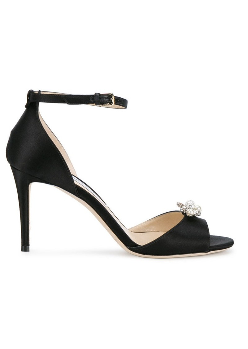 Jimmy Choo Black Satin Tori 85 sandals