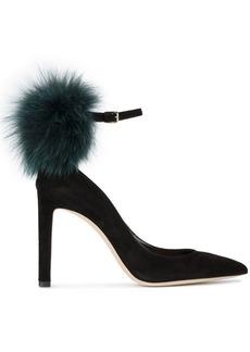 Jimmy Choo Black South 105 Fur pumps