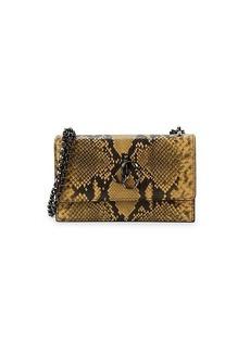 Jimmy Choo Bohemia Python-Print Embossed Leather Mini Bag