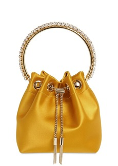 Jimmy Choo Bon Bon Silk Satin Bucket Bag