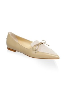 Jimmy Choo Bow Leather Loafers