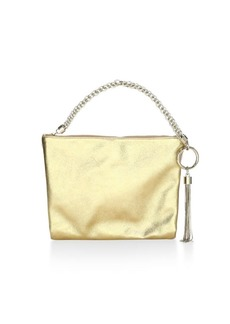 Jimmy Choo Callie Metallic Leather Wristlet