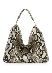 Jimmy Choo Callie Tassel Python & Leather Hobo Bag
