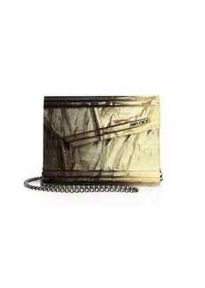 Jimmy Choo Candy Degrade Crinkled Lamé Fabric Clutch