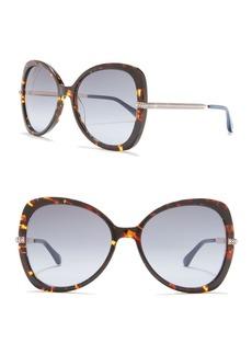 Jimmy Choo Cruz 58mm Butterfly Sunglasses