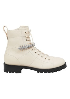 Jimmy Choo Cruz Crystal-Embellished Boots