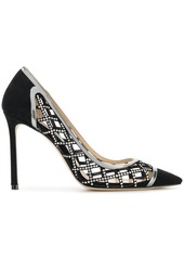 Jimmy Choo crystal cage Romy 100 pumps