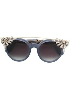 970a89a015ce Jimmy Choo crystal embellished carryover sunglasses