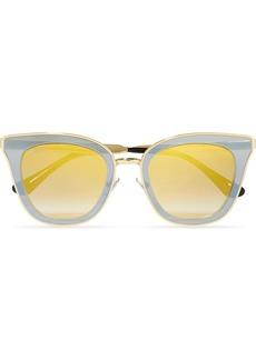 Jimmy Choo Crystal-embellished Cat-eye Acetate Sunglasses