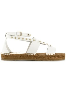 Jimmy Choo Denise studded raffia sandals