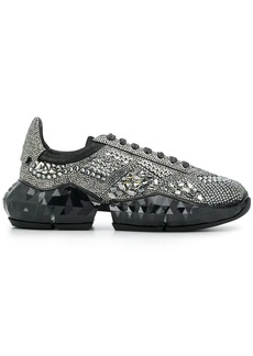 Jimmy Choo Diamond crystal-embellished low-top sneakers