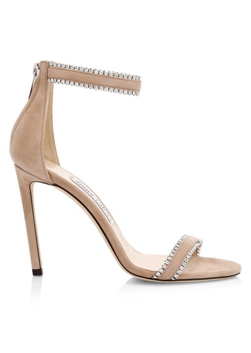Jimmy Choo Dochas Embellished Suede Sandals