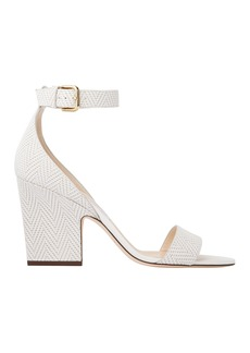 Jimmy Choo Edina Knit White Sandals