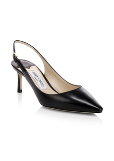 Jimmy Choo Erin Leather Slingback Pumps