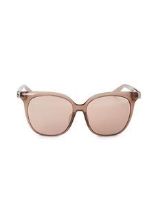 Jimmy Choo Faux Tortoiseshell 56MM Square Sunglasses