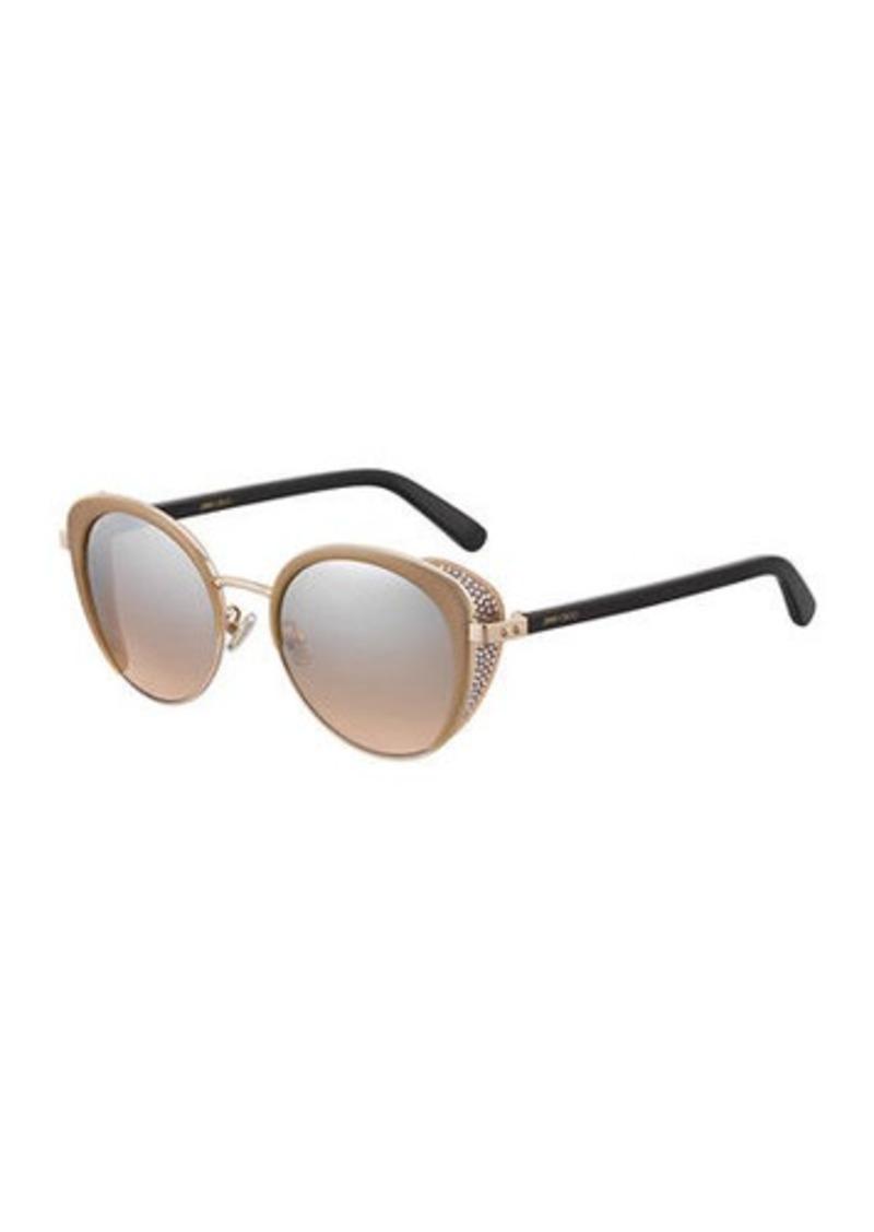 54f84d5a550 Jimmy Choo Gabby Mirrored Metal & Acetate Cat-Eye Sunglasses ...