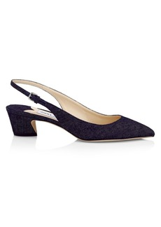 Jimmy Choo Gemma Denim Slingback Pumps