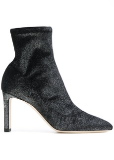 Jimmy Choo glitter heeled boots