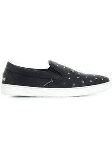 Jimmy Choo Grove star-embellished slip-on sneakers