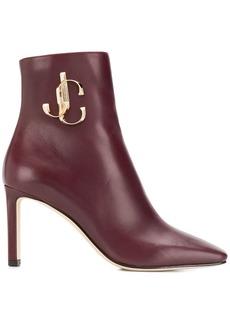 Jimmy Choo heeled logo ankle boots
