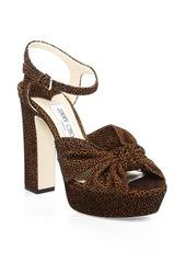 Jimmy Choo Heloise Leopard-Print Platform Sandals